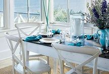 Beach Dining Rooms / The hub of your beach home entertaining, these dining room ideas will help you create the perfect relaxed atmosphere. / by Cottage & Bungalow