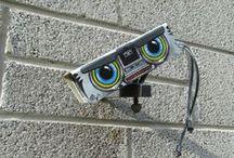 Yarnbombing and street art