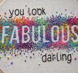 Embroidery and pretty stitches