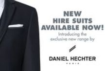Mens Hire Suits / Introducing the exclusive new HIRE RANGE by Daniel Hechter, Paris. This exclusive Daniel Hechter range has been designed specifically for Ferrari Formalwear stores in Australia. The style and fit is second to none and will make your special man feel, and look amazing.