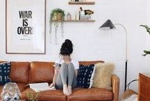 inspire: gallery walls / gallery walls that inspire—new gallery wall layouts, fun alternative objects to expand beyond just a gathering of frames, different kinds of art (calligraphy quotes, pictures, painting) and how to arrange them to complement each other, and how to stage a gallery wall with the surrounding furniture.
