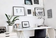 inspire: clean modern office / Clean, modern, and minimal office inspiration.
