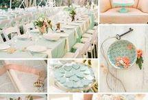 wedding inspiration: mint and peach / wedding decorations, wedding inspiration, bridal party, wedding day, wedding invitations, ceremony, centerpieces, greenery, spring or summer wedding, fresh wedding