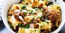 Pasta & Noodles | Recipes / Looking for pasta pasta recipes? This board has you covered! Everything from Italian pasta recipes, spaghetti, lasagna, rigatoni, penne, sauce, linguine, angel hair, farfalle, orzo, lunch, dinner, pasta salad, comfort food, egg noodle, ditalini, bucatini, macaroni, macaroni and cheese, and Asian noodle recipes. Get my own pasta recipes here: https://bigflavorstinykitchen.com/tag/pasta/ & follow my other boards here: https://www.pinterest.com/bigflavors/boards/