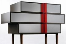 DRESSERS & CABINETS / Contemporary Design, Decoration. Dressers, commodes, chests of drawers, tallboys, highboys.