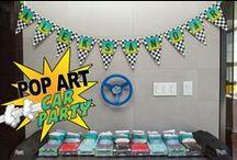 Car Party Ideas / car party, license plate, checkered flag, printables