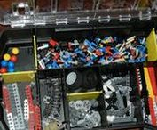 Lego Storage / Pinning compact, interesting ways to store and sort lego for our son.