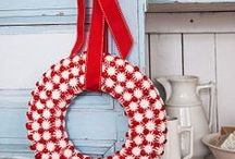 Red Christmas Decor & Crafts