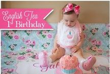 English Tea Birthday Party / English Tea Birthday 1st birthday party