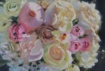 Custom Bridal Bouquet Paintings / Examples of original oil paintings I've created inspired by bridal bouquets. Often given as a meaningful and lasting gift of love to a bride from her mother or husband. Learn more about what I can create for you to show your love at: http://patfiorello.com/wedding_bouquet.