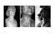 my sculptural works / sketches, clay, gypsum, wood, rusty iron, red copper, plexiglass