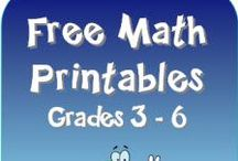 Homeschool - Math / Teaching math in your homeschool can be hard to say the least! Use these homeschool math lessons and worksheets to help! Your kids will be figuring numbers in no time with these!