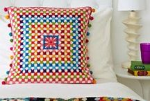 SQUARE Stitching / Modern Cross Stitch kits, Pattern, Crafts and Stitching by Jacqui Pearce - created by using her innovative cross craft designs - making Granny Squares from Wool Tapestry cross stitch designs.  Copyright Jacqui Pearce - all rights reserved.  www.JacquiP.com