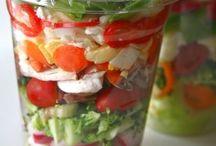scrumptious salads!!!!!! / by Peggy Radka Medina