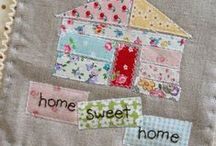 #homesweethomeminiswap / I love bright, happy, scrappy little houses.