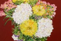 My-Floral Paintings / A mixture of Allan's Garden and Cut flowers paintings / by Allan P Friedlander