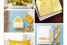 Inspiration Boards - Bright Colors from eInvite.com / TREND ALERT! Bright summer colors, and just in time for the World Cup. From stunning yellows to bright blues, stay tuned for more inspirational colors.