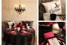 Paris Themed Destination Wedding Ideas / Destination Weddings are unique and exciting. Who doesn't want to exchange wedding vows in an exotic picturesque location - but even if you can't afford to travel, you can bring the destination to you with themed decor and products!