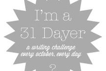 31 Day Writing Challenge Blogs/Ideas / http://write31days.com
