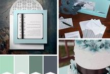 Soft Blues and Sea Foam Green - Perfect for spring! / Mint green, soft blues, perfect colors for a spring wedding.
