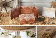 Rustic Wedding Charm / Thinking about having a rustic wedding? Here are some ideas to inspire you.