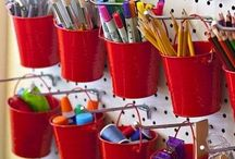Art Studio / Craft Room / Craft room organisation ideas and inspiration for creating a beautiful, practical art studio!