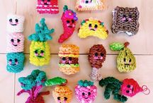 Loom bands / Rainbow loom band ideas, inspiration and tutorials (to inspire the kids to use up all the millions of bands we have in the house!)