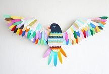 Paper & Papier Mache / Cut, collaged, layered, folded and quilled paper creations to inspire! / by Kate Hadfield