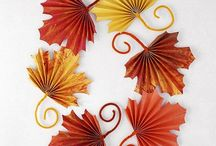 Autumn / Fall crafts for kids / Autumn themed arts, crafts and activities for kids (and parents!) and tasty autumnal recipes. Lots of leaf and pumpkin crafts!