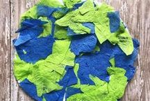 Earth Day crafts for kids / Arts, crafts and activities to celebrate and learn about Earth Day and Arbour Day!