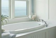Bathe, Primp, and Be Girly / Beautiful bathroom and vanity ideas!