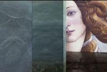 #UVE2016 - Area immersiva / La prima parte della digita Exhibition Uffizi Virtual Experience. Da Giotto a Caravaggio, allestita con multiproiezioni immersive in un grande spazio