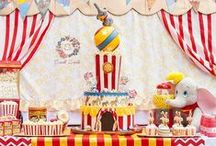 Sewell Sweets Carnival Circus Cake / Sewell Sweets created a Dumbo inspired carnival circus cake for our son's 5th birthday. Enjoy! You can see more on Facebook and Instagram!