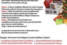 Chasse au trésor des Canadiens / by Janet Aldrich