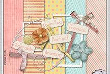 Kits and Papers for scrapbook / More ideas of scrapbook and some free download