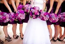 a bride, some maid of honors dresses, flowers and colours / Some ideas for Soraya