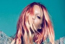 .:spring hair dreamin':. / Coral colored dreams. I want to live in a sunset.  / by Ash