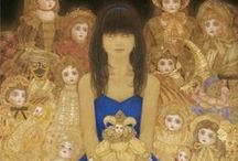 Dolls in Art / Dolls pictured in Art History. Puppen in der Kunst.