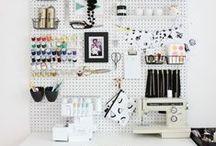 Craft Storage / Creatvie ideas for storing craft supplies.