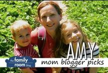 """Amy's Picks / As a mom to a school age daughter and preschool son, it's important to surround my family with """"nourishing"""" experiences especially around food and nature. We read books about food and the natural world, we garden, we volunteer at our local farmer's market, we participate in Community Supported Agriculture (CSA) programs, we go to farms and pick our own, we cook together, we spend lots of time outdoors, and we have family dinners 5-6 nights per week."""