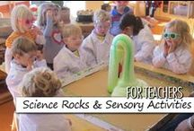 For Teachers: Science Rocks & Sensory Activities / Science is the process through which we learn about the world. Science Rocks is the Bright Horizons approach to science across all age groups; based upon our knowledge that young children are born with a strong sense of curiosity and life is full of exploration, experimentation, and the process of making discoveries. Gardening and sensory activities are full of discovery and exploration opportunities!  Disclaimer: Some pins are not endorsed by Bright Horizons, but pinned as ideas worth sharing. / by Bright Horizons