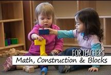 For Teachers: Math Counts, including Construction and Blocks / Math Counts gives children mathematical experiences with one-to-one correspondence, counting, sorting, patterning, and problem solving. We are also including ideas for construction and block play across the early childhood years.  Disclaimer: Some pins are not endorsed by Bright Horizons, but pinned as ideas worth sharing.