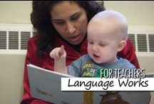 For Teachers: Language Works / Language Works is the Bright Horizons comprehensive language program that provides teachers with ways to integrate activities for listening, speaking, reading, and writing throughout the curriculum, integrated into the daily activities, projects, environment, and communication within the classroom. Language Works engages children in a  continuum of language experiences that challenges their emerging skills and knowledge. Some pins are not endorsed by BH, but pinned as ideas worth sharing.