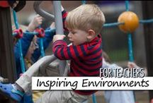 For Teachers: Inspiring Environments / Children thrive in child care environments that meet their emotional, physical and social needs; a home away from home, full of comforting sights, sounds and scents; a place where loving caregivers form meaningful relationships with the children. By carefully planning the child care environment, through observation of the children in our care and then analyzing, and reflecting upon their needs, skills and interests, we create Caring Spaces and Learning Places. Some pins are not endorsed by BH.