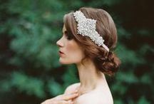 Bridal Hairstyles / Once in awhile, right in the middle of an ordinary life, love gives us a fairy tale / by Celine Hansen