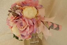 Garden Wedding Bouquet / Silk Flower Garden Wedding Bouquets, Peony, Hydrangea, Tiger Lilies, Orchids, Customize to your colors and theme. @ www.etsy.com/shop/3Mimis / by Wedding Bouquets