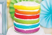 Rainbow Party Ideas / Rainbow parties are the bomb!!  Girl Rainbow Party  //  Boy Rainbow Party  //  Unisex Rainbow Party  //  Great to be 8 Rainbow Party  //  Rainbow Birthday Party  //  St. Patrick's Day Rainbow Party
