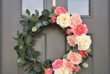 Wreaths by Alyssa Curry / Message me if you would like your own personal Wreath made for your front door or interior!!!