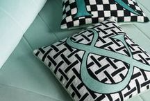 Alphabet Cushions / Alphabet Cushions by Sue Timney for The Rug Company. These monochrome cushions come personalised with a letter of your choice and make the perfect presents.