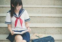 Uniformes japonais / Les célèbres uniformes japonais, que tout le monde connaît, notamment au travers des manga.